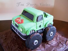 32 Ideas For Monster Truck Cake Tutorial Birthday Parties Monster Truck Birthday Cake, Monster Truck Party, Monster Trucks, Bithday Cake, Cake Birthday, 4th Birthday, Birthday Parties, Ford Truck Quotes, Dump Truck Cakes