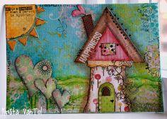 #mixedmedia canvas #hearts #home inspiration
