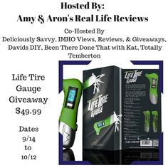 Come check out the Life Tire Gauge Giveaway on my blog!  Enter daily! #Giveaway   Fabulous and Brunette: Life Tire Gauge Giveaway - Enter daily!