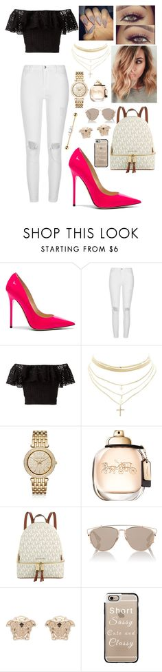 """""""Untitled #331"""" by brie-karitsa-luciano on Polyvore featuring Jimmy Choo, River Island, Philosophy di Lorenzo Serafini, Charlotte Russe, Michael Kors, Christian Dior, Versace and Casetify"""