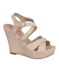 Take a look at this Beige Guide Wedge on zulily today!