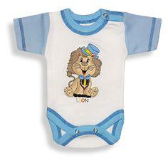 Kojenecké body - krátky rukáv, LION  http://www.milinko-oblecenie.sk/detske-body-dupacky-overaly/ Veľkosť: 56, 62, 68, 74, 80, 86, 92, 98 #detskebody #kojeneckebody #kojeneckeoblecenie