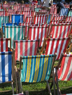Colour deck chairs | Flickr - Photo Sharing!