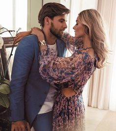 "naimabarcelona: "" Johannes Huebl and Olivia Palermo for Sunday Life September 2014 """