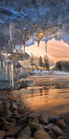 Icecles at Banff National Park in Alberta, Canada