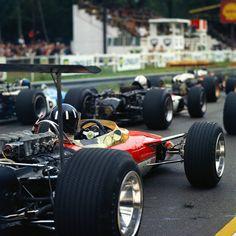 Graham Hill ~ Lotus 49B ~ 1968 French Grand Prix