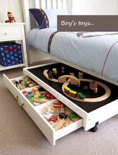The Best DIY and Decor: Interior design idea Underbed Play Table: Great Little Trading Co.