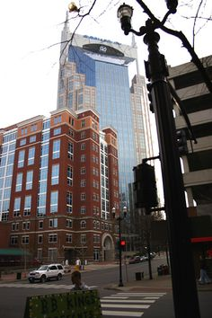"""AT & T Building, locally known as the """"Batman Building"""" for it's two spires, Nashville, TN"""
