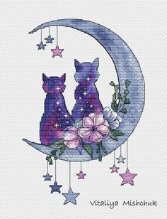 Cross Stitch Cat Cross Stitch Pattern animals Horizontal Colorful Art DIY X-stitch Chart Needlepoint Embroidery PDF Inst Cat Cross Stitches, Cross Stitch Baby, Cross Stitch Animals, Modern Cross Stitch, Cross Stitch Kits, Cross Stitch Designs, Cross Stitching, Cross Stitch Embroidery, Embroidery Patterns