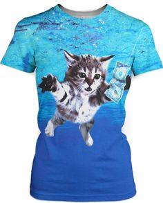 Cat Cobain T-Shirt #NYLONshop http://shop.nylon.com/collections/whats-new/products/cat-cobain-t-shirt