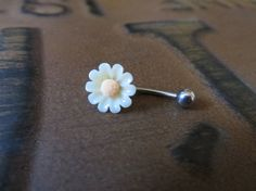 Mini 16 Gauge Daisy Sunflower Rook Eyebrow by Azeetadesigns