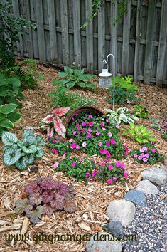 Summer Flower Garden in the Shade