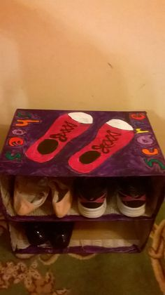 Shoes case from card board boxes