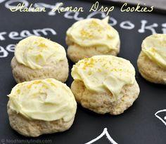 Italian Lemon Drop Cookies.