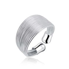 Edea Sterling Silver Plated Rings Plain