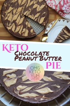 Check it out! Dairy free Sugar free Keto Chocolate Peanut Butter Pie! OMG its that good!