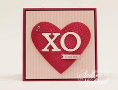 AnreaWalford.com - Easy Valentine Card: XOLoveYouCard