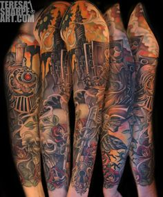 Tattoo by Teresa Sharpe... to date the best dark tower tattoo I have ever seen. Bravo!!