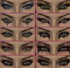 10 Halloween/Coustume eyeshadow looks