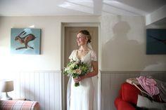 bride at home before wedding, essex documentary wedding photography, jenny packham bride