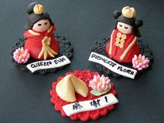 Chinese Royalty Cupcake Toppers by Lynlee's Petite Cakes, via Flickr