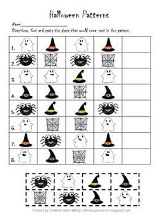Halloween Patterns Worksheet: