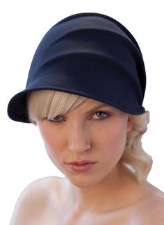 folded or draped cloche #millinery #cloche #judithm