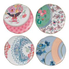 Kitchen floral Wedgwood Harlequin Butterfly Bloom Plates, 8.25-Inch, Set of 4 Wedgwood http://www.amazon.com/dp/B007CL7AJE/ref=cm_sw_r_pi_dp_lHDRtb0VF185WB5H