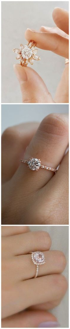 Wedding Ideas » 22    Most Popular Rose Gold Engagement/Wedding Rings Worth Having »   ❤️ More:     http://www.weddinginclude.com/2017/06/most-popular-rose-gold-engagementwedding-rings-worth-having/