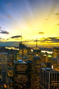 Sunset New York Financial District