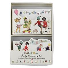 Ruby Rabbit Partyware - Belle & Boo Invitations & Thankyou Cards