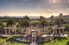 This stately courtyard is surrounded by natural beauty.Location: St. Regis Resort Monarch Beach in Dana Point, CA