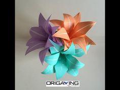 Origami: Boutonnière - Flor de Lapela - YouTube