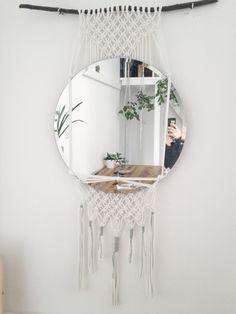 macrame/macrame anleitung+macrame diy/macrame wall hanging/macrame plant hanger/macrame knots+macrame schlüsselanhänger+macrame blumenampel+TWOME I Macrame & Natural Dyer Maker & Educator/MangoAndMore macrame studio Macrame Mirror, Macrame Art, Diy Mirror, Macrame Projects, Macrame Knots, Mirror Hanging, Hanging Tapestry, Diy Interior, Plant Shelves