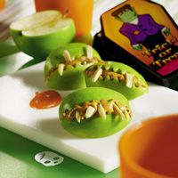 Healthy Halloween Apple Green Meanies Treats