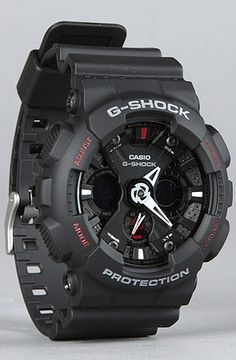 G-SHOCK $140 The X-Large Combi Watch in Matte Black. The perfect DJ's watch!