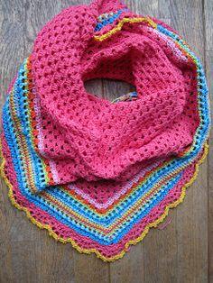 Lente omslagdoek - leuke kleuren - geen patroon