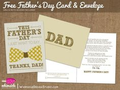 Printable: Free Father's Day Card & Envelope