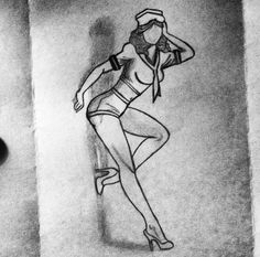 The Pinup girl I drew a bit ago. ^__^