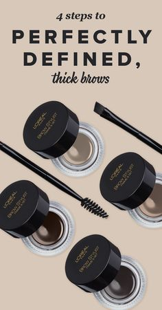 There's one product that can define and thicken brows: L'Oréal Paris Brow Stylist Frame + Set, a lightweight, creamy mousse pomade that comes in four easy-to-match shades, plus a double-ended tool with an angled brush on one end and a spoolie on the other. Whether you want to beef up your non-existent brows, or simply give your thick pair a little more shape, we've got the easy, step-by-step plan for you.