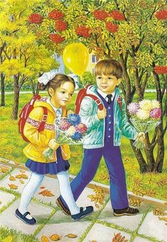 View album on Yandex. Creation Photo, Picture Story, Vintage School, Autumn Activities, Illustrations, Cute Illustration, Pretty Pictures, Cute Kids, Coloring Pages