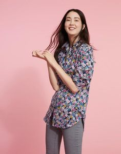 Joules Laurel Womens Long Line Linen Shirt Joules Clothing, Work Wardrobe, Workout Shirts, Shirt Blouses, Blouses For Women, Skinny Jeans, Women's Tops, Womens Fashion, How To Wear