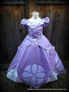 Sofia The First Princess Inspired Dress Gown - Adult Size With Pearls - OMG!