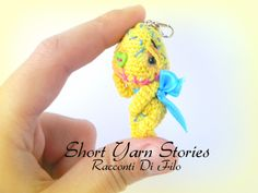 Little Amigurumi Crochet Blue Vodoo Doll / Amigurumi Doll Necklace / Collectible / Vodoo Doll Minature / Miniature Doll Handmade by ShortYarnStories on Etsy