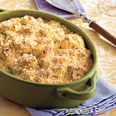 Two Cheese Squash Casserole...I know what I'll be bringing to Thanksgiving dinner at Bobby's Mom's house!