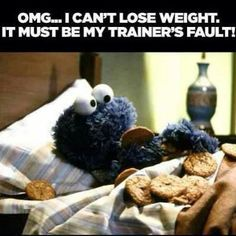 cant lose weight funny quotes tv quote tv shows funny quote funny sayings sesame street cookie monster funn quotes humor humorous quote Gym Humor, Workout Humor, Crossfit Humor, Workout Pics, Funny Workout, Best Weight Loss, Healthy Weight Loss, Fitness Tips, Health Fitness