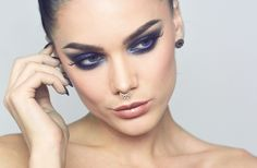 Oct 11 2015 Linda Hallberg - glitter blue eyeshadow