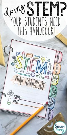 Do you conduct STEM or PBL activities in the classroom? If so, your students NEED this mini handbook and guide. Here's why: Students are reminded how to collaborate, communicate, and work together in a group setting It will keep students motivated when they are ready to give up on a challenge or project (motivational quotes included) Students are encouraged to take on specific team roles and be held accountable in the group
