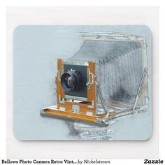 Shop Bellows Photo Camera Retro Vintage Picture Lens Mouse Pad created by Nickelsteven. Antique Cameras, Vintage Cameras, Custom Mouse Pads, Vintage Pictures, Elephant Gifts, Retro Vintage, Art Pieces, Lens, Unisex