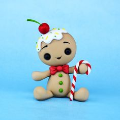 Most up-to-date Free of Charge gingerbread clay ornaments Concepts Kawaii Gingerbread Man fondant / polymer clay tutorial Polymer Clay Ornaments, Polymer Clay Figures, Polymer Clay Projects, Polymer Clay Charms, Polymer Clay Creations, Clay Crafts, Fondant Figures, Polymer Clay Tutorials, Sculpey Ideas